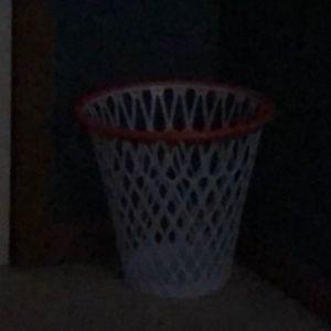 Basketball goal laundry basket